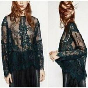 Zara Sheer Lace Top